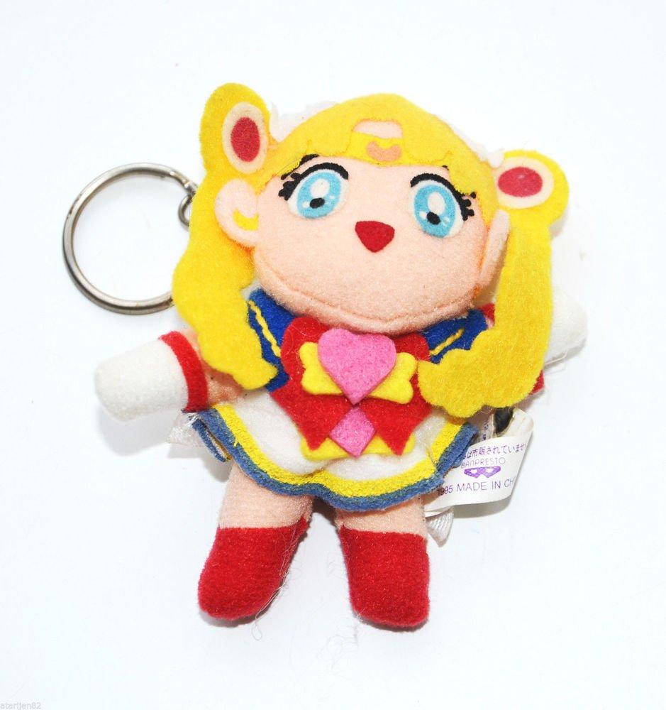 Banpresto Japan 95 Super Sailor Moon S plush doll stuffed toy keychain key ring