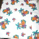 handmade vintage cotton pillow case jungle animals lion giraffe monkey alligator