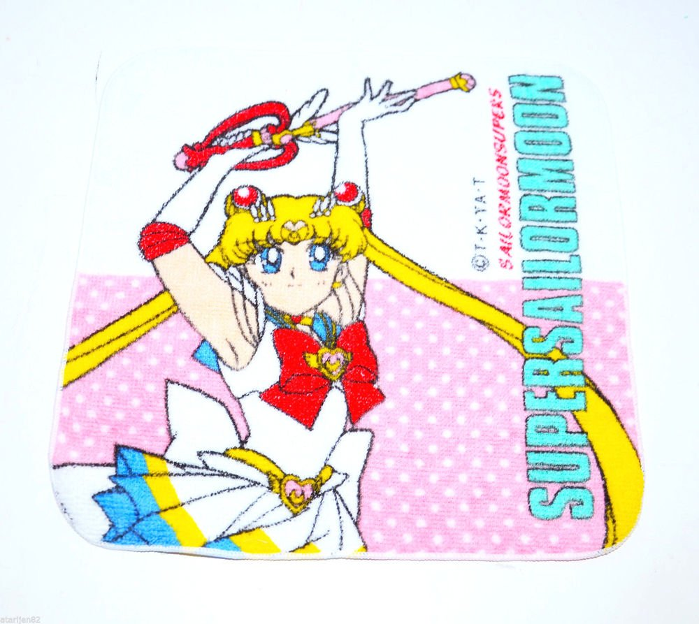 Bandai Sailor Moon SuperS Super S towel rag Japan import kaleidomoonscope wand