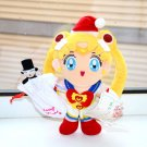 Sailor Moon 90s Christmas Chibimoon present Tuxedo Mask plush doll stuffed toy