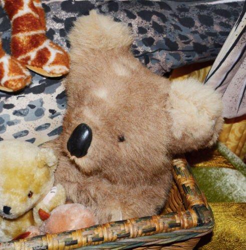charity vintage Australia real fur stuffed animal plush toy Soft zoo koala