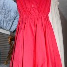 antique vintage Girls 2 3 4 5 USA sleeveless red knee dress 1950's 1960's