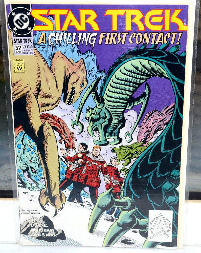 EUC Star Trek DC Comic Book 52 Sep 93 A Chilling First Contact! collectible