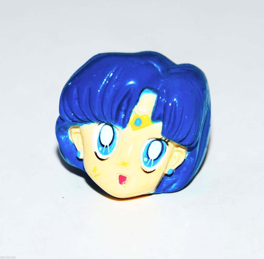 Rare Sailor Moon vintage ring Sailor Mercury USA Prize Promo jewelry collectible