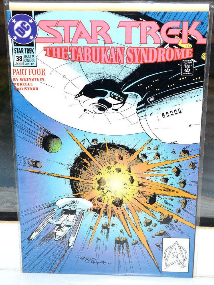 EUC Star Trek DC Comic Book 38 Oct 1992 The Tabukan Syndrome Part  Four vintage