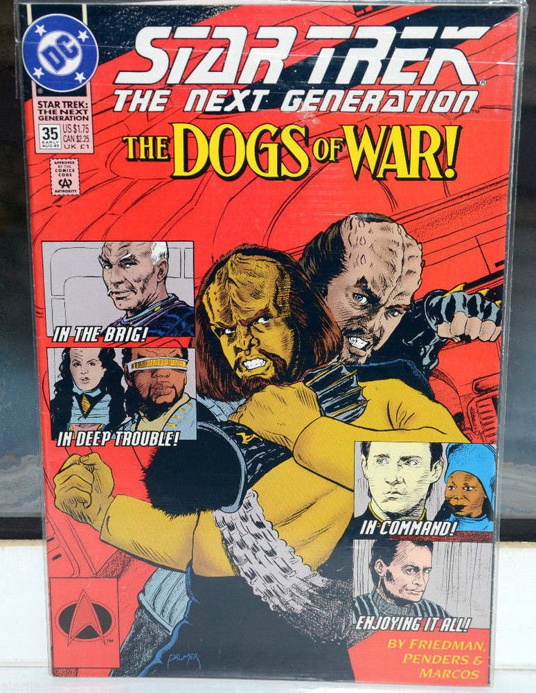 EUC Star Trek The Next Generation DC Comic Book 35 EARLY Aug 92 The Dogs of War!