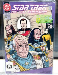 Star Trek The Next Generation DC Comic Book 33 EARLY Jul 92 Enterprise Quagmire