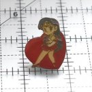 Sailor Mars heart pin Rei seifuku sailor moon vintage Bandai Japan Sailor Moon