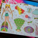 Sailor Moon paper doll sheet vintage green dress