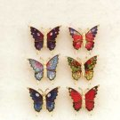 IRIDESCENT BUTTERFLY PINS