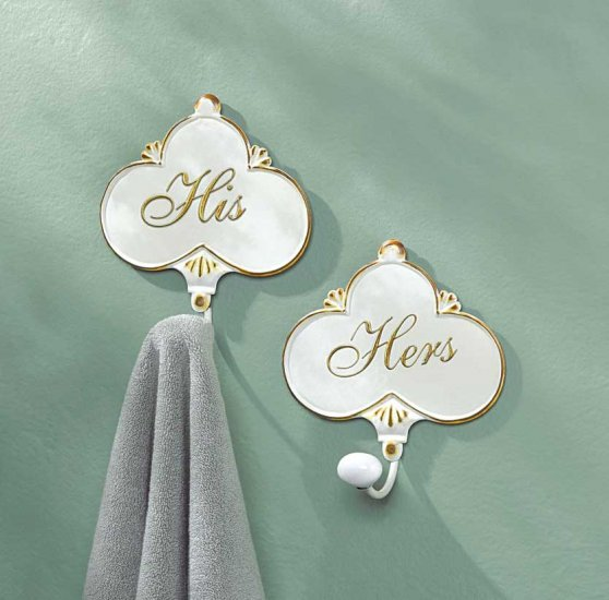 HIS 'N HERS TOWEL HANGERS