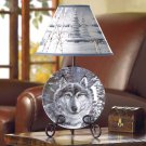 WOLF IN A SNOWY FOREST LAMP