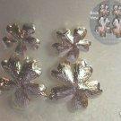 New Vintage BOLD Silver Dangle Flower Pierced Earrings