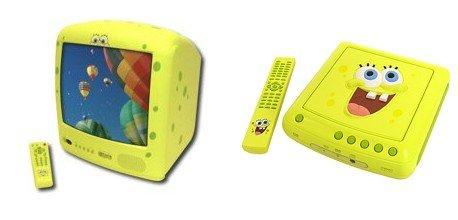 """Emerson 13"""" SpongeBob SquarePants TV(Yellow) plus SpongeBob SquarePants DVD Player"""