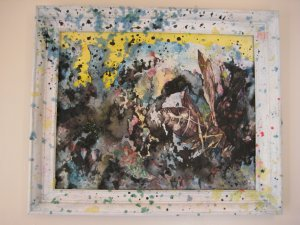 original contemporary watercolor/mixed-media