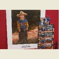 Rodeo Mega Pack with 4 Figures, Trading Cards  and June Dudley Print