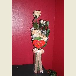 MOTHER'S DAY SATIN ROSES/VASE