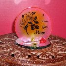 """I Love You, Mom"" Plaque / Candleholder"