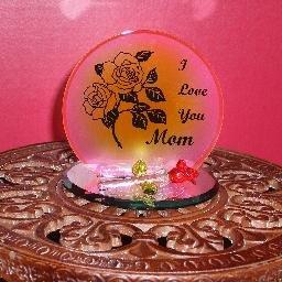 """""""I Love You, Mom"""" Plaque / Candleholder"""
