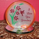 I Love You Grandma Plaque/Candleholder