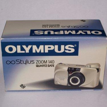 Olympus Infinity Stylus Zoom 140 Quartz Date autofocus 35mm film camera with 38-140 mm lens
