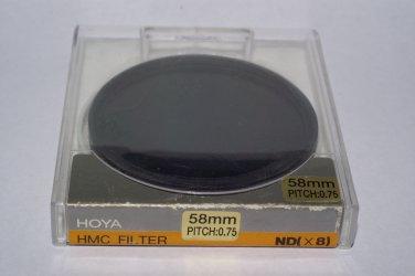 Hoya 58 mm Neutral Density NDx8  HMC Filter
