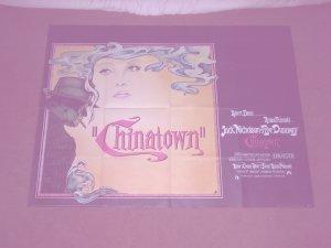 CHINATOWN BRITISH QUAD CINEMA POSTER 1974