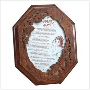 child and parent prayer plaque