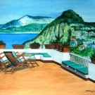 LANDSCAPE-ITALY Original painting on canvas paper.