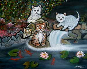 CATS IN THE WILD-Bold and striking animal landscape