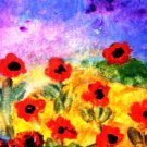 HAPPY POPPIES-SPRING ACEO