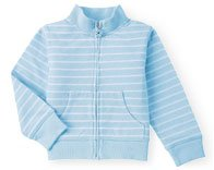 Gymboree Dandelion Wishes Blue/White Striped Jacket ~ Size 5 ~ GUC
