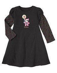 Gymboree Imaginary Friends Black Knit Dress ~ Size 4 ~ EUC