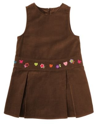 Gymboree Mix N Match Brown Jumper Dress ~ Size 4 ~ Like New ~ VHTF