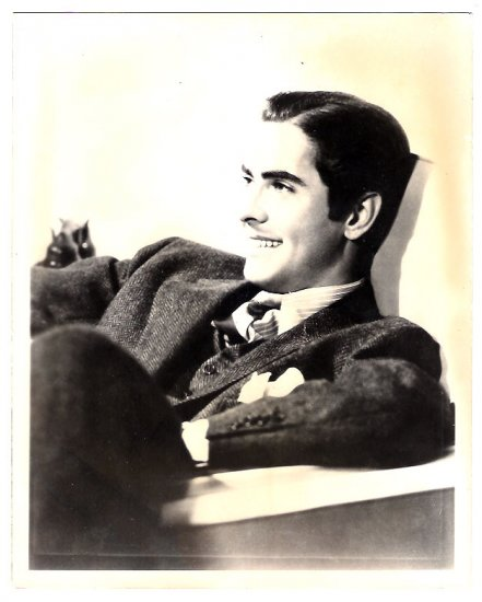 Real Photo of Hollywood star Tyrone Power, early 1900's