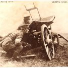 Real Photo of two British motor cycle, dispatch riders