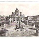 """Real Photo Postcard of """"Piazza e Basilica di S. Pietro"""", 1940's"""