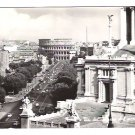 Real Photo Postcard (RPPC) of Roman Coliseum, view from Empire Street, Italy - Postmarked, 1967