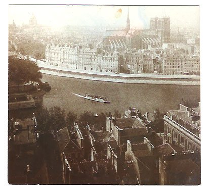 Real Photo of Notre Dame Cathedral from Tower of St. Gervais--Paris, France, 1900