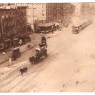 Real Photo-Wagon & Railroad car 11th Ave., NYC, 1900's