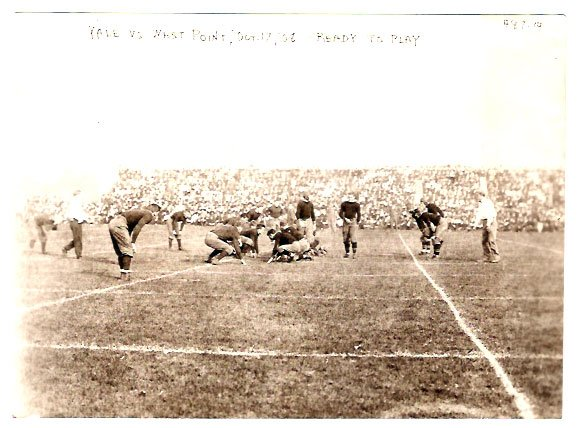 Real Photo of a football game between Yale and west Point in 1908