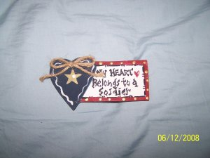 """MY HEART BELONGS TO A SOLDIER"" MAGNET!"