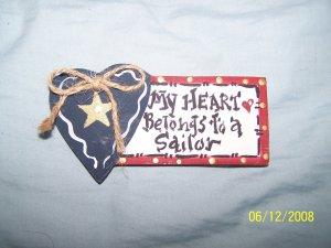 """""""MY HEART BELONGS TO A SAILOR"""" MAGNET"""