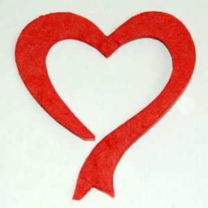 10 Red Bow Hearts Die cut Card Topper Embellishments