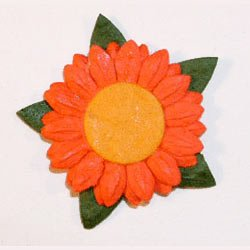 20 Orange Daisy Mulberry Flower Card Topper Die Cut