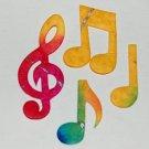 20 Batik Music Notes Card Topper Die Cut Embellishment