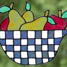 Fruit Bowl Faux stained glass  Window Cling