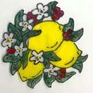 Lemon bunch Faux Stained Glass Window cling suncatcher