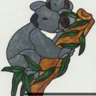 Koala Bear Gallery Glass Window Cling Decal suncatcher
