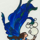Water Fairy Faux Stained Glass Suncatcher Window Cling